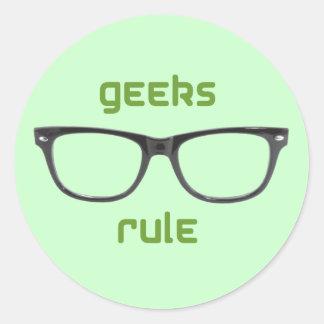 Eyeglasses da regra dos geeks adesivo