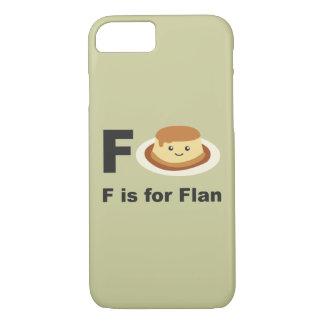 F é para o Flan Capa iPhone 7
