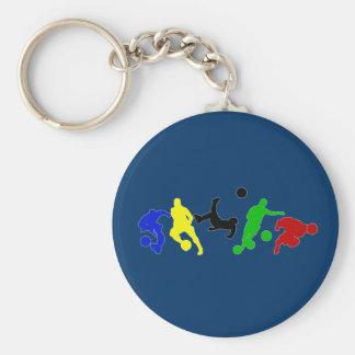 Fã de esportes do futebol dos jogadores de futeb chaveiro