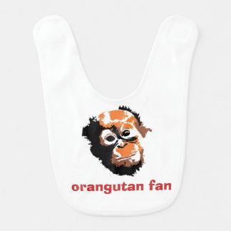 Fã do orangotango do bebê babadores para bebes