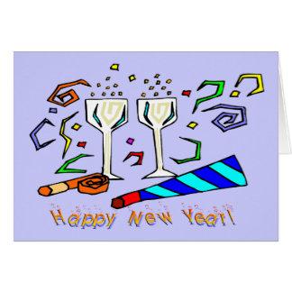 Fabricantes do ruído de ano novo cartão comemorativo
