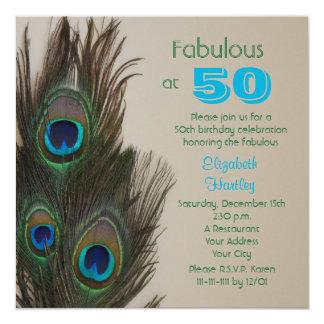 Fabuloso no 50th convite de aniversário 50