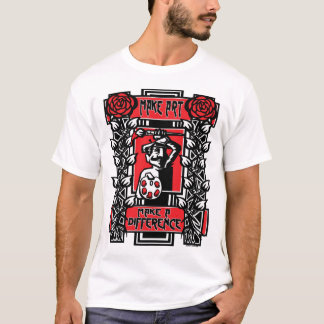 Faça a arte, faça uma diferença camiseta