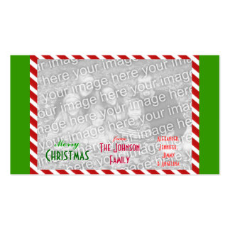 Faça a foto de família pessoal do Feliz Natal Cartão De Visita