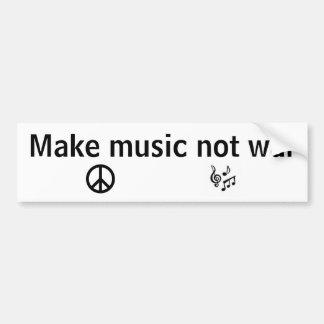 Faça a guerra da música não adesivo para carro