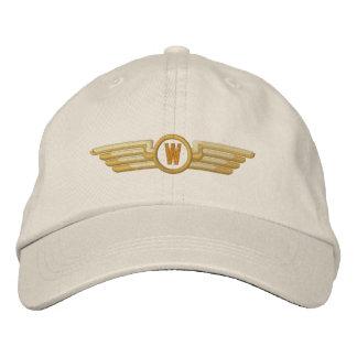 Faça a seus louros da aviação do monograma as asas boné bordado