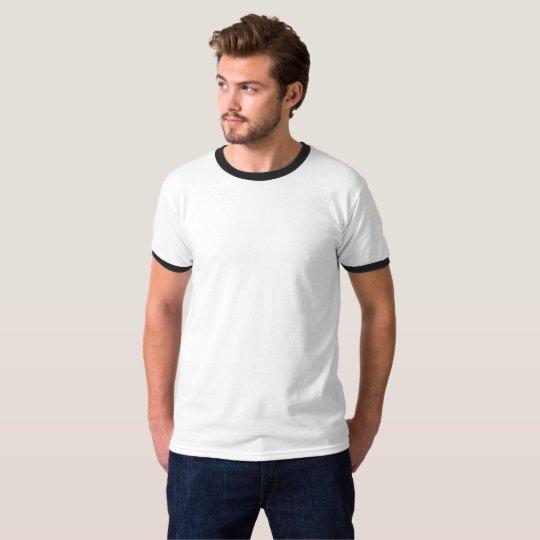 Camiseta Ringer, Branco/Preto