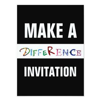 Faça a uma diferença citações inspiradores convite 13.97 x 19.05cm
