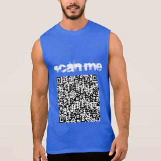 """""""Faça a varredura de me"""" t-shirt dos sleevelss dos"""