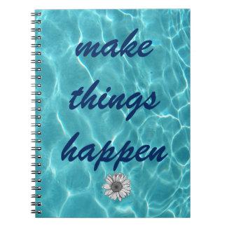Faça coisas acontecer caderno