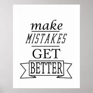 faça erros obter melhor