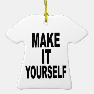 Faça-lhe você mesmo o TShirt Ornamento De Cerâmica Camiseta