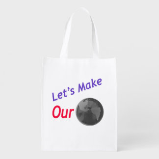 Faça nossa terra esverdear! sacolas ecológicas