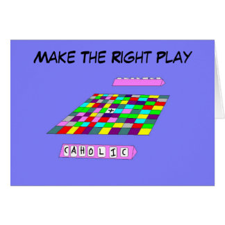 Faça o católico adequado do jogo… cartão de nota