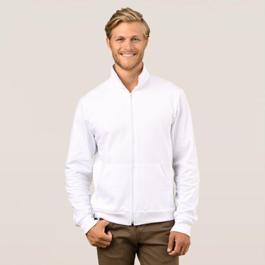 Agasalho masculino de lã de algodão, Branco