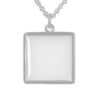Faça o seu Próprio Medalhão de Prata de Lei Colares Personalizados