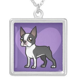 Faça seu próprio animal de estimação dos desenhos colar banhado a prata