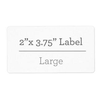 Faça sua própria etiqueta 8,5 x 11