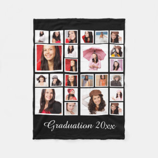 Faça sua própria graduação personalizada cobertor de lã