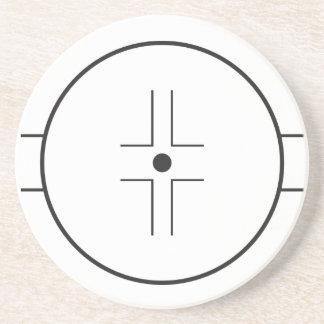 Face-fora circle porta copos de arenito