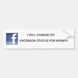 facebook adesivo para carro