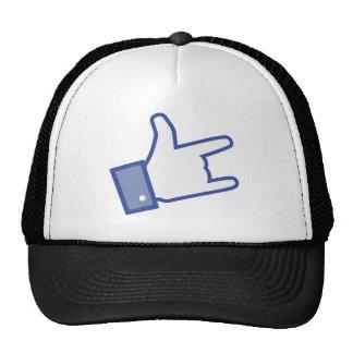 Facebook gosta de você de balançar o ícone do rock boné