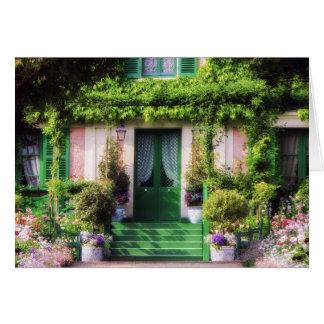 Fachada Home bem-vinda do jardim Cartão Comemorativo