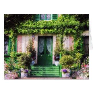 Fachada Home bem-vinda do jardim Cartão Comemorativo Grande