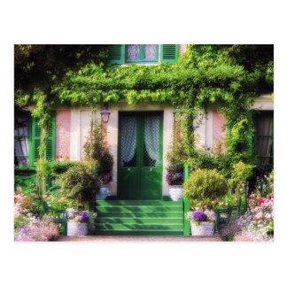 Fachada Home bem-vinda do jardim Cartão Postal