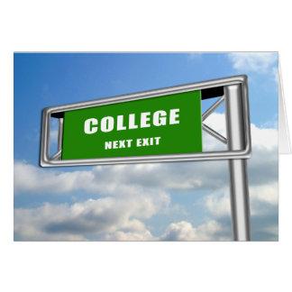 Faculdade da graduação do sinal da saída da cartão