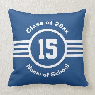 Faculdade do atleta do ano da classe da graduação travesseiros de decoração