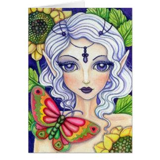 Fada da borboleta * sua dissimulação *   cartão