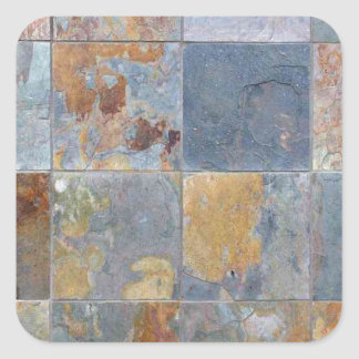 Faded que lasca azulejos alaranjados azuis do adesivo quadrado