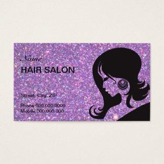 Faísca & cartão de visita do cabeleireiro do