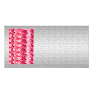 Faísca cor-de-rosa do gráfico de prata macio da cartão com foto