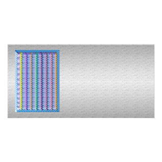 Faísca gráfica de prata macio do arco-íris da base cartão com foto