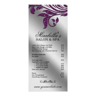 Faísca roxa floral da folha da jóia do cartão da c 10.16 x 22.86cm panfleto