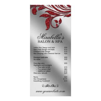 Faísca vermelha floral da folha da jóia do cartão  10.16 x 22.86cm panfleto