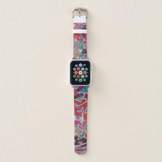 Faixa de relógio vermelha de Apple do design dos