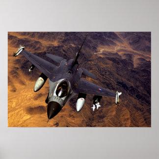Falcão F-16 de combate Poster