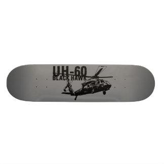 Falcão preto shape de skate 19,7cm