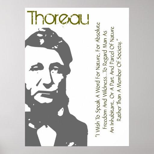 Fale uma palavra para o poster de Thoreau da natur