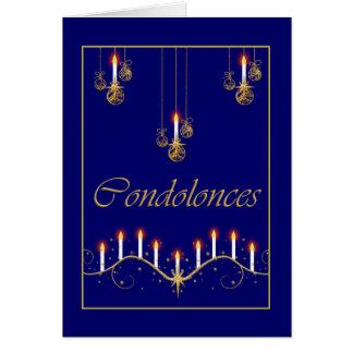 Falecimento do funeral dos pêsames cartão comemorativo
