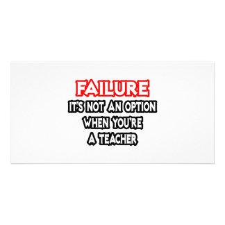 Falha… não um professor da opção… cartao com fotos personalizado
