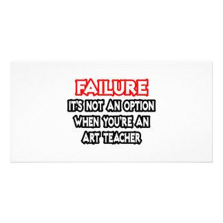 Falha… não um professor de arte da opção… cartão com foto