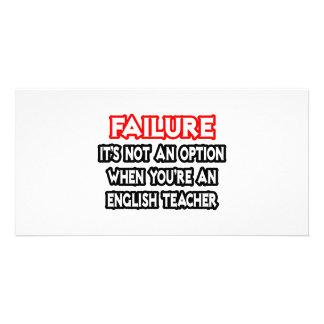 Falha… não um professor de inglês da opção… cartão com foto