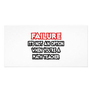 Falha… não um professor de matemática da opção… cartoes com fotos personalizados