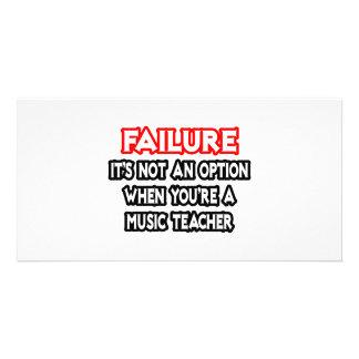 Falha… não um professor de música da opção… cartões com fotos