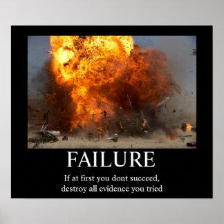 Falha - poster inspirador engraçado