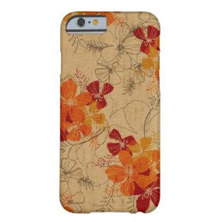 Falso havaiano do jardim da meia-noite de madeira capa barely there para iPhone 6